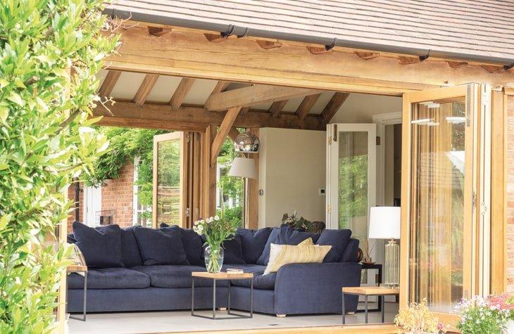 Oak framed living room extension