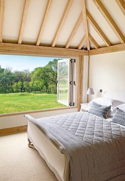 oak framed annexe bedroom