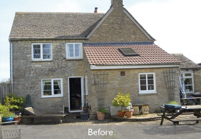Before garden room and orangery extension