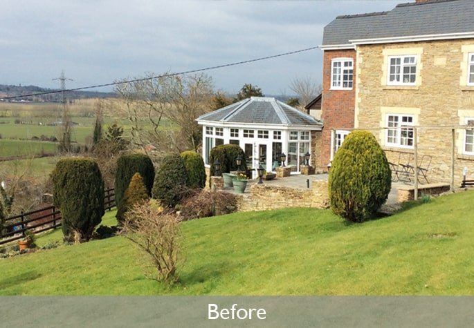 Conservatory before orangery replacement