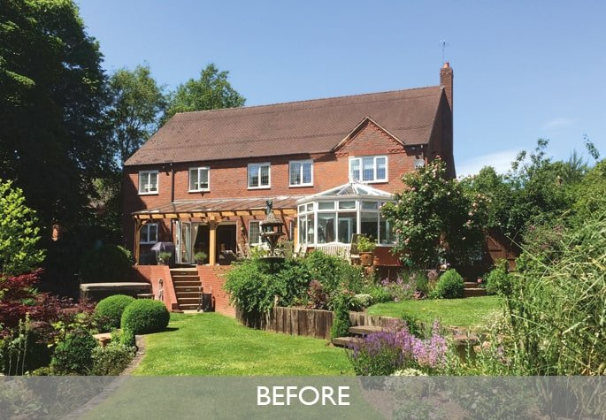 Before orangery extension