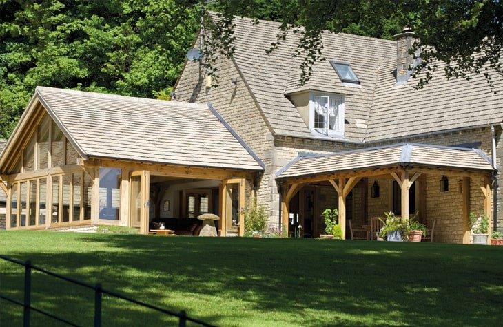 Oak framed garden room and entertaining shelter