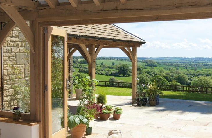 Oak framed garden room and shelter