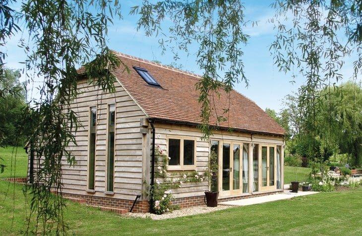 Oak framed studio annexe