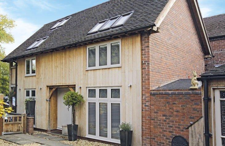 Oak framed two storey annexe