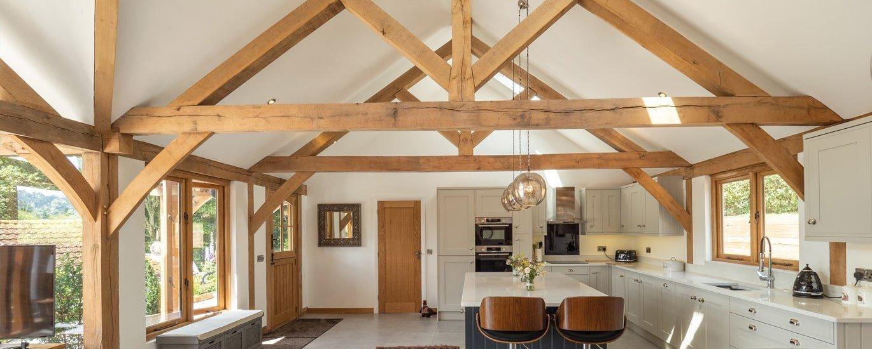 Oak framed annexe kitchen extension