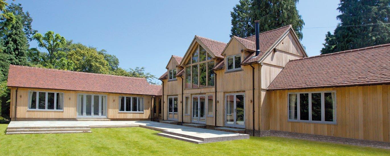 Oak framed complex building