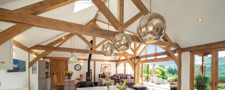 Oak framed single storey extension