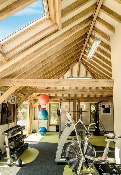 Oak framed gym extension