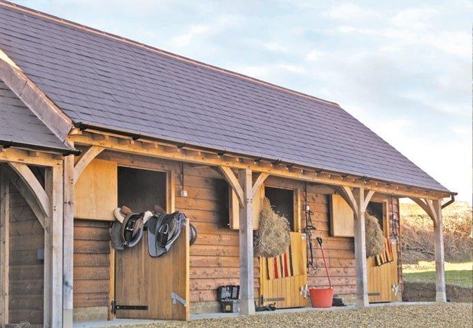 Oak horse stables