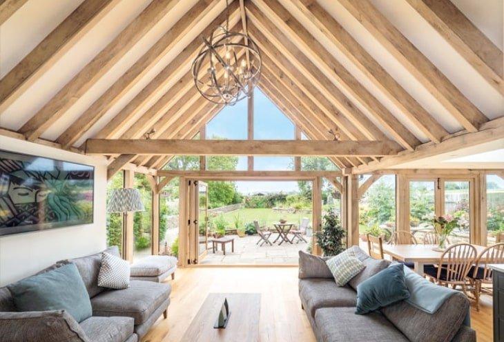 Oak framed garden room and orangery extension