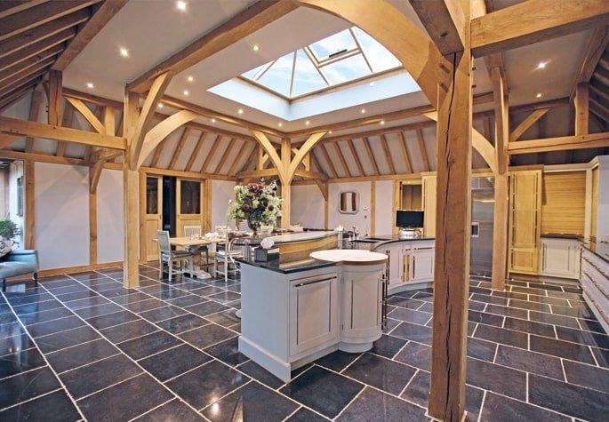 Oak framed kitchen show site