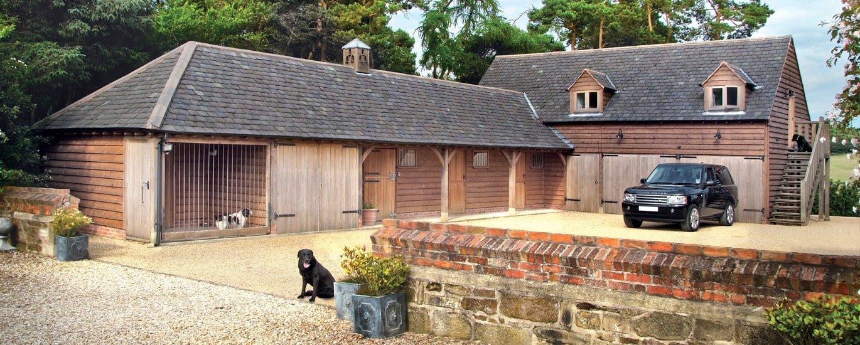 Oak framed garage complex
