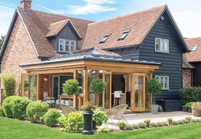 Traditional orangery extension