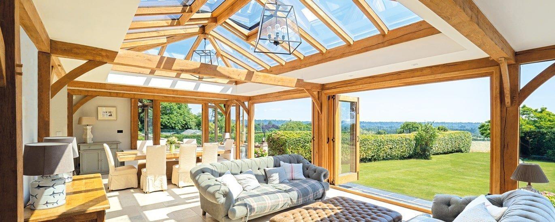 Oak framed traditional orangery extension