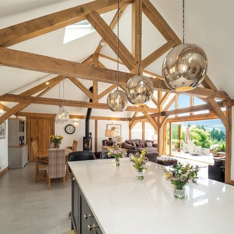 Oak framed permanent living solution