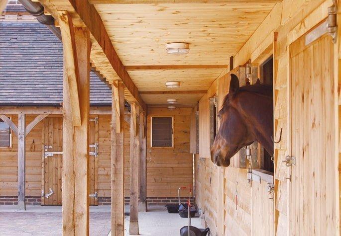 Oak framed stables