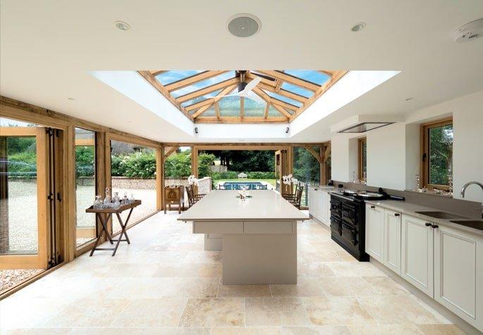 Oak framed orangery kitchen extension