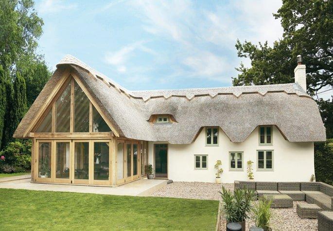 Thatched cottage oak framed extension