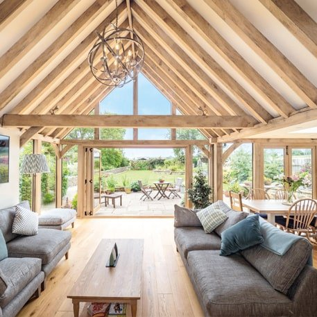 Oak framed orangery and garden room combined