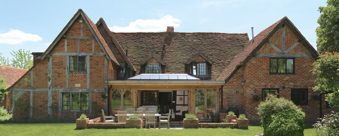 Listed property oak framed traditional extension