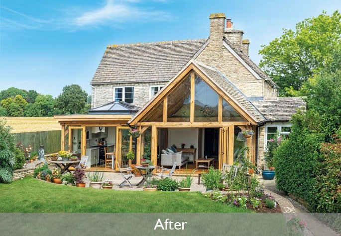 After garden room and orangery extension project