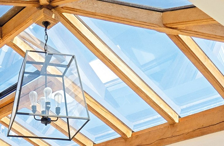 Oka framed lantern close up