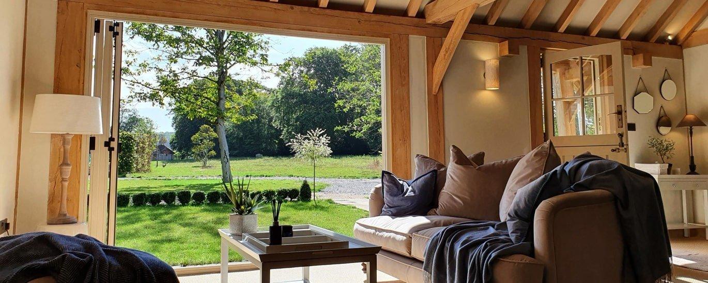 Oak framed annexe living room