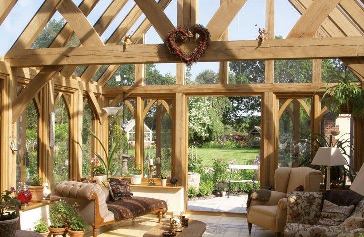 Oak glazed conservatory