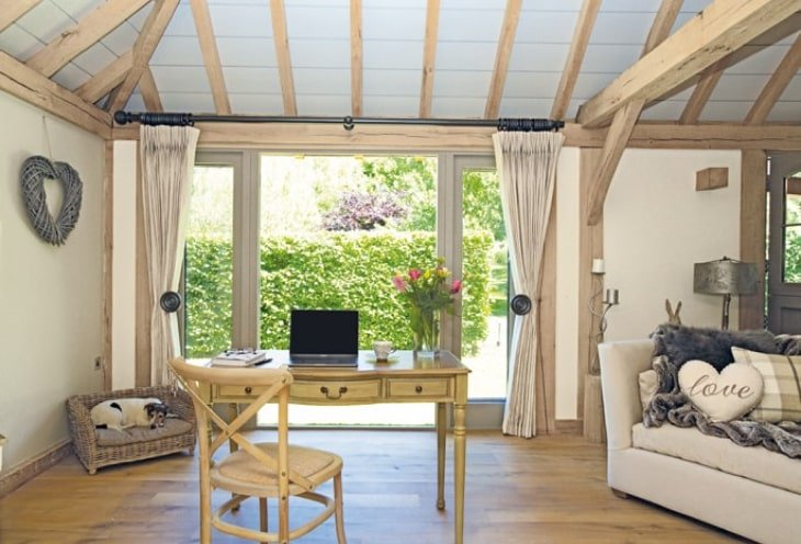 Oak framed office extension